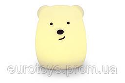 Силиконовый ночник детский Click Медведь (ночные зверята) 11 см