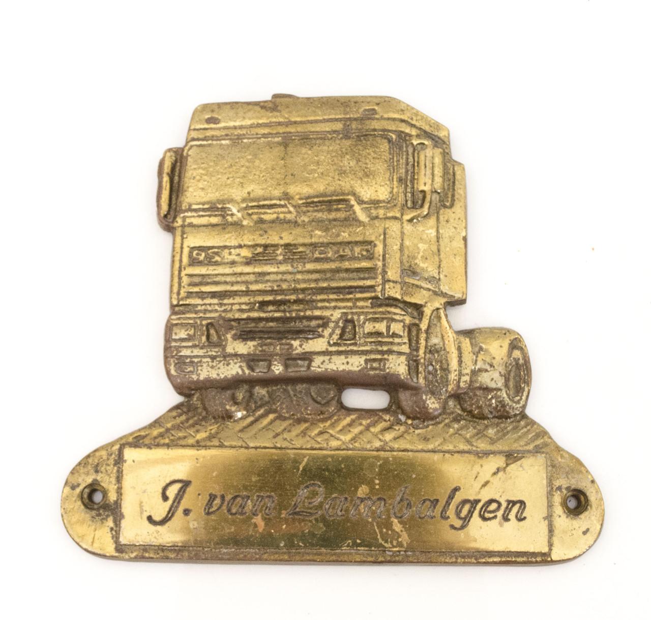 Старый настенный барельеф, бронзовая табличка van Lambalgen, бронза, Германия