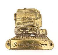 Старый настенный барельеф, бронзовая табличка van Lambalgen, бронза, Германия, фото 1