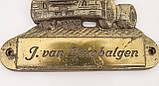 Старый настенный барельеф, бронзовая табличка van Lambalgen, бронза, Германия, фото 3