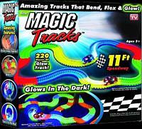 Magic Tracks 220 деталей светящаяся гоночная трасса меджик трек дорога меджик автотрек трек для детей меджик