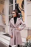 Пальто жіноче півпальто на запах пояс підклад кишеню 42 44 46 48 50 Р, фото 5