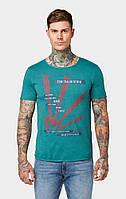 Мужская зелёная футболка TOM TAILOR Denim TT 10133010012 19059