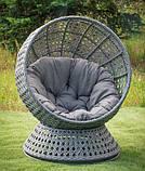 Крутящееся кресло из искусственного ротанга Верона, фото 2
