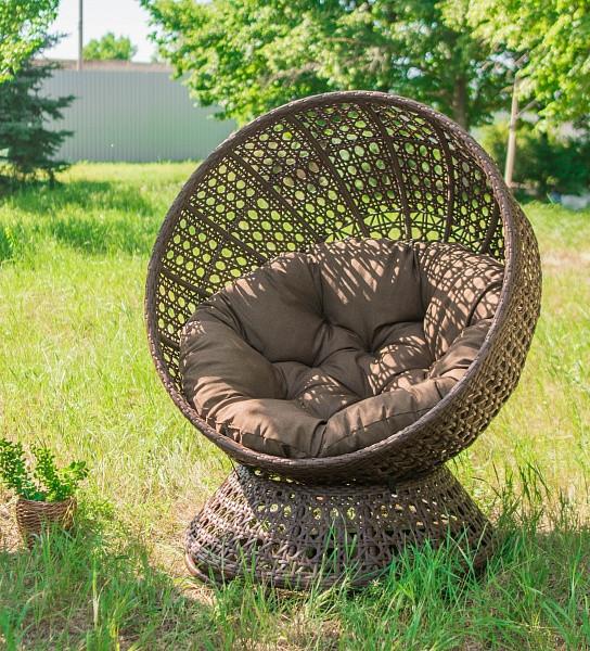 Крутящееся кресло из искусственного ротанга Верона