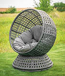 Крутящееся кресло из искусственного ротанга Верона, фото 3