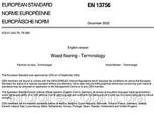 Деревянные полы - терминология (согласно EN 13756:2002, перевод)