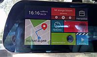 "Зеркало регистратор, 5"" сенсор, 2 камеры, GPS навигатор, WiFI, 8Gb, Android"