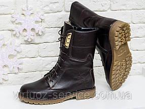 Ботинки женские Gino Figini Б-44-06 из натуральной кожи 39 Коричневый, фото 2