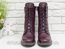 Ботинки женские Gino Figini Б-44-07 из натуральной кожи 39 Бордовый, фото 3