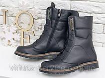 Ботинки женские Gino Figini Б-44-08 из натуральной кожи 37 Черный, фото 3
