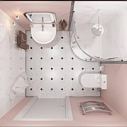 Комплект València (FIESTA RIM компакт, FIESTA умывальник, FIESTA душ кабина, BENITA смеситель для раковины скрытого монтажа, BENITA  душ)