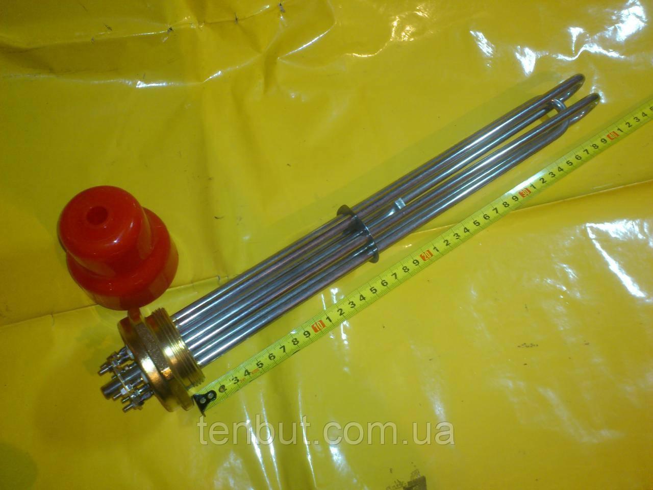Блок тэн нержавейка 15.00 кВт / 2.0 дюйма резьба / 220 В. / 540 мм. длина . производство Турция SANAL