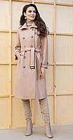 Пальто Юрс-19-237-3 белорусский трикотаж, кэмел, 44
