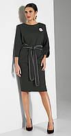 Платье Lissana-3804/1 белорусский трикотаж, хаки, 50, фото 1