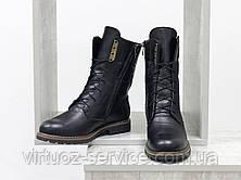 Ботинки женские Gino Figini Б-44-11 из натуральной кожи 39 Черный, фото 3