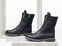 Ботинки женские Gino Figini Б-44-11 из натуральной кожи 39 Черный, фото 2