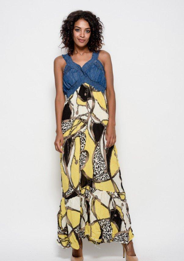 Платья  6193  S желтый