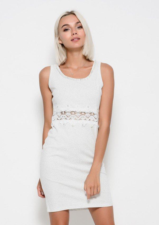 Платья  6235  S светло-серый