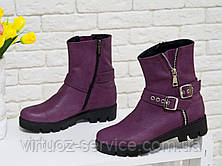 Ботинки женские Gino Figini Б-450-01 из натуральной кожи 38 Бордовый, фото 2