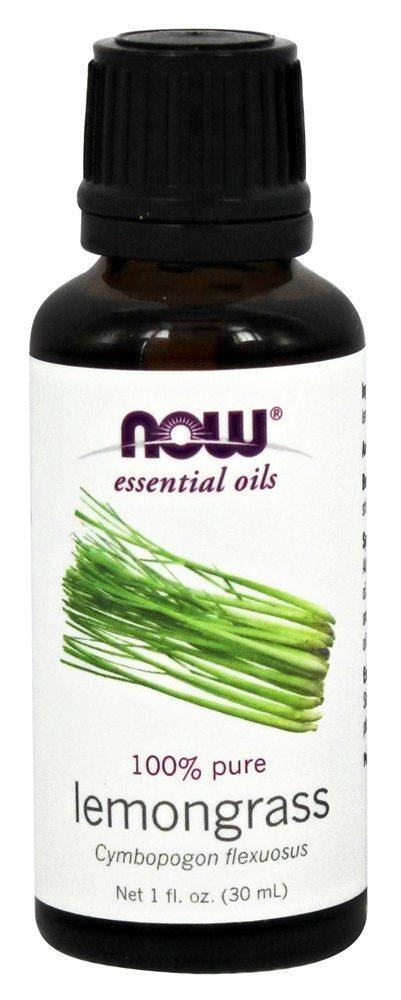 NOW Foods Эфирное масло Лемонграсса, Lemongrass oil 100% pure, 30 ml