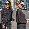 Женская блуза со вставками кружева  42, 44, 46, фото 3