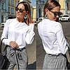 Женская блуза со вставками кружева  42, 44, 46, фото 4