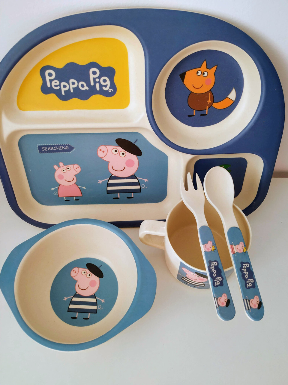 Набор детской бамбуковой посуды Свинка Пеппа