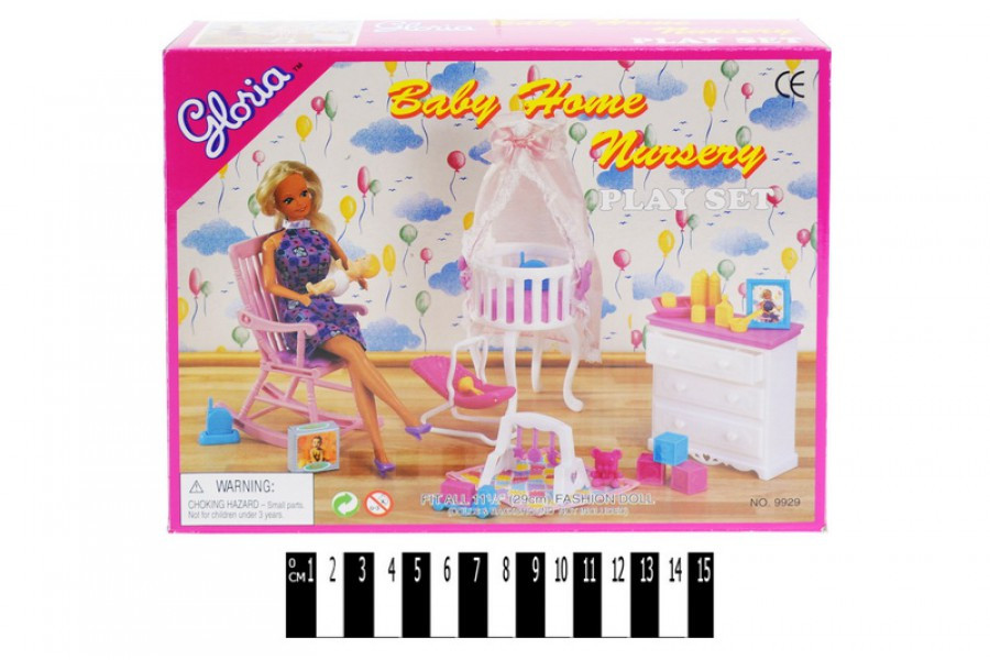 Лялькова меблі Глорія 9929 Дитяча кімната, Gloria