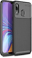 Чехол-накладка TOTO TPU Carbon Fiber 1,5mm Case Samsung Galaxy A40 Black #I/S
