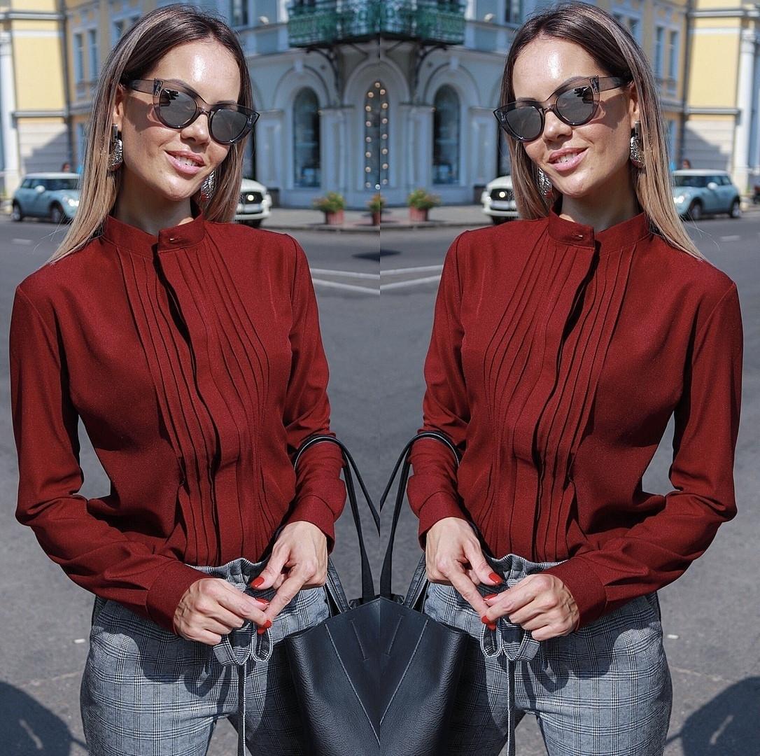 Женская блуза воротник стойка  42, 44, 46