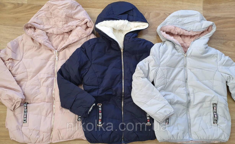 Куртка двухсторонняя  на меху для девочек оптом, Taurus, 8-16 лет, арт. X-53