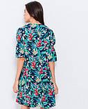 Расклешенное платье с тропической расцветкой, фото 3