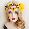 Вінок на голову і сережки набір прикрас для волосся біжутерія аксесуари, фото 7