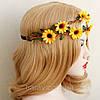 Вінок на голову і сережки набір прикрас для волосся біжутерія аксесуари, фото 8