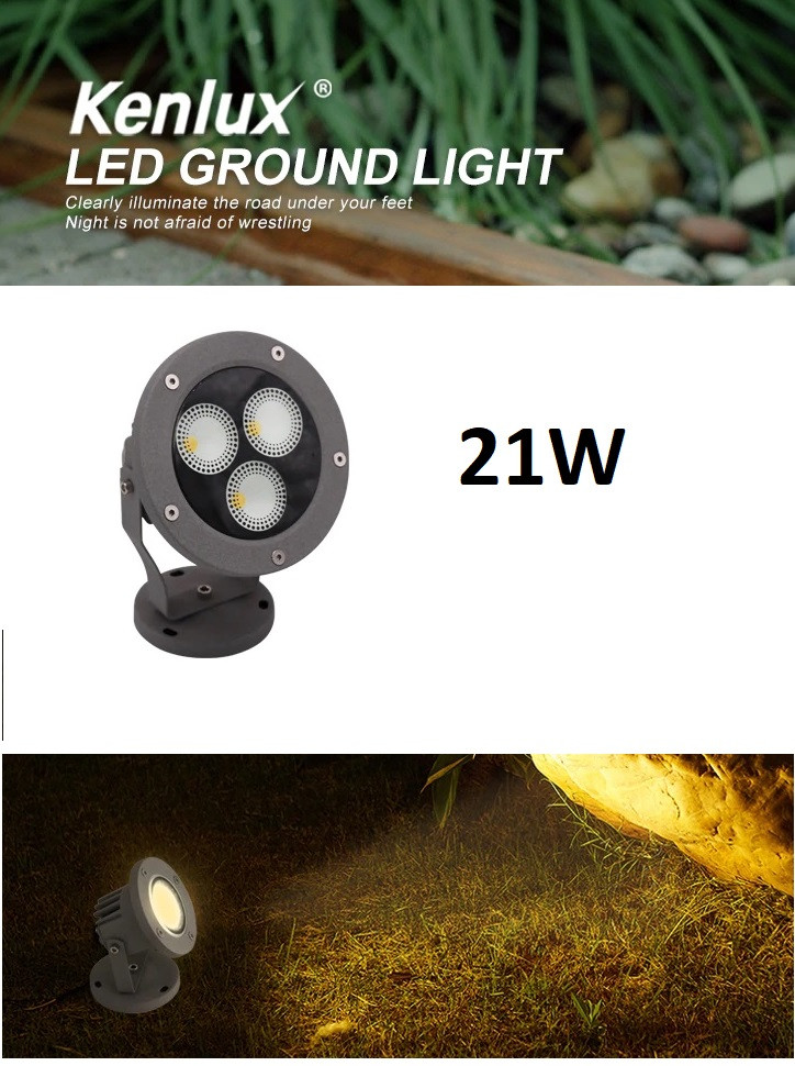 Светильник ландшафтный  KL- LED 21W 3000К 220V IP 65 GRAY  SPIKE