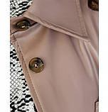 Куртка из эко кожи с поясом №722Б-беж, фото 4