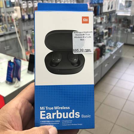 Гарнитура bluetooth Xiaomi Mi True Wireless Earbuds Basic Black (ZBW4480GL)EAN/UPC: 6934177709968, фото 2