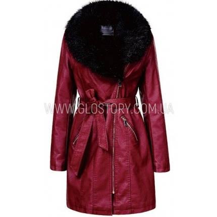 Женское кожаное пальто, Glo-Story, фото 2