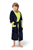Теплый махровый халат для мальчика.Wiktoria 737
