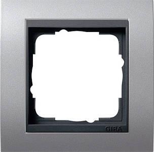 Gira 021106 Рамка установочная 1 пост Gira Event антрацит алюминий