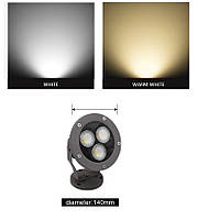 Светильник ландшафтный  KL- LED 21W 3000К 220V IP 65 GRAY  SPIKE, фото 7