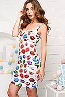 Мини платье женское бюстье с пончиками KP-5896-24
