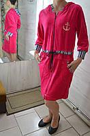 Халат женский велюровый с капюшоном, фото 1