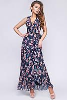 Женское летнее платье на запа́х длинное KP-10263-2