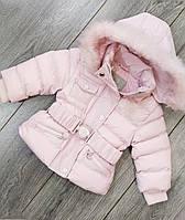 Зимняя куртка на девочку Monna Rosa арт.13305 размер 3-6 мес. Турция