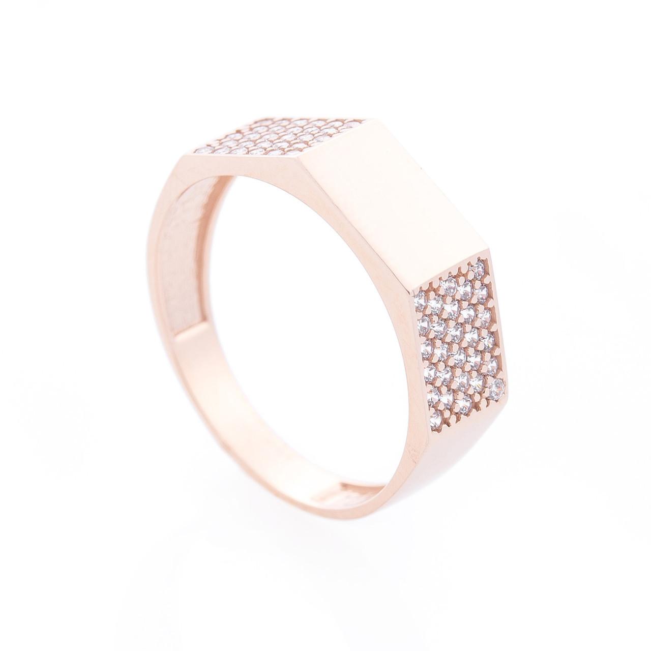 Золотое кольцо с фианитами гк06004