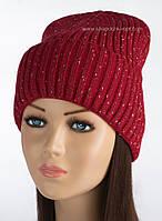 Красная шапка с отворотом Элина