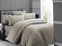Постельное белье First Choice 200х220 сатин DE LUXE Square style toprak