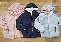 Куртка двухсторонняя на меху для девочек оптом, Taurus, 8-16 лет,  № X-53, фото 1